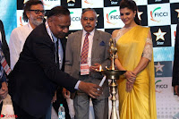 Gorgeous Jacqueline Siddharth Roy Kapur and Raj Nayak At FICCI FRAMES 2017 09.JPG
