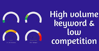 High search volume - low competition keyword
