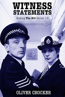 Blue tinted photo of two cast members of The Bill used as a book cover