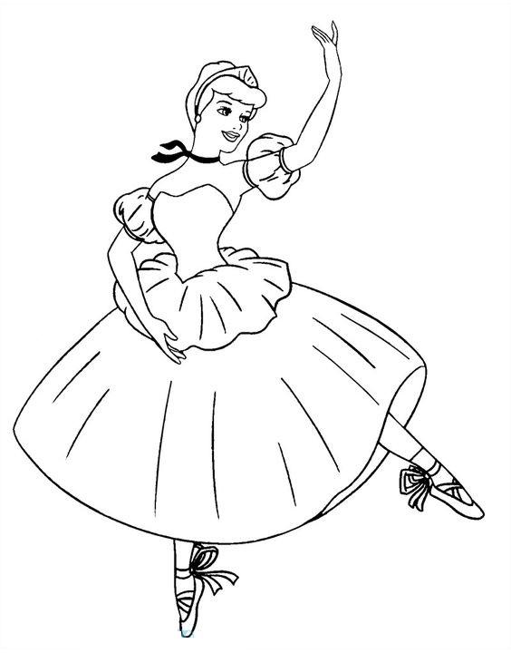 Hình tô màu công chúa múa bale đẹp