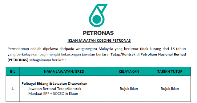 petronas 2021 jobs