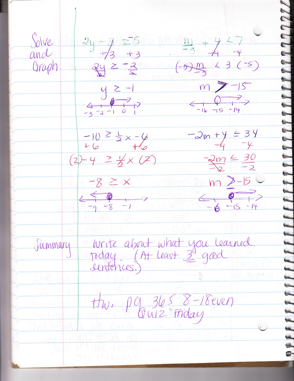 Ms Jean S Classroom Blog 7 5 Solving Two Step Inequalities