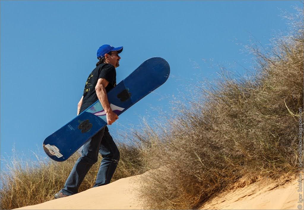 Израиль пустыня сэндбординг Негев