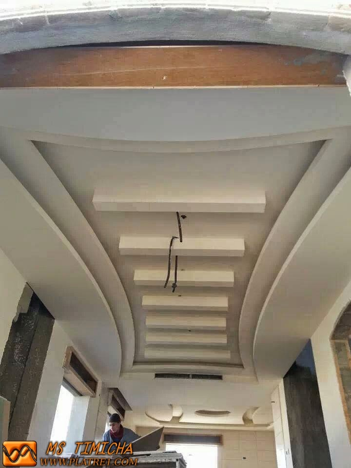 D coration faux plafond platre for Design plafond en platre