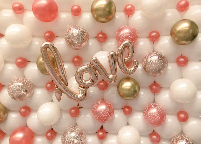 """Love"" Balloon Wall by Sue Bowler - www.suebowler.com"