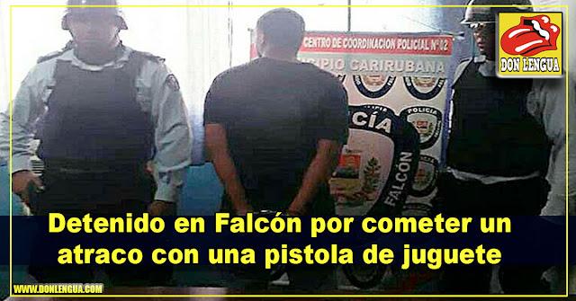 Detenido en Falcón por cometer un atraco con una pistola de juguete