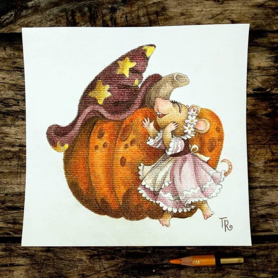 01-Magic-pumpkin-and-joyful-mouse-Tatyana-Romanova-www-designstack-co