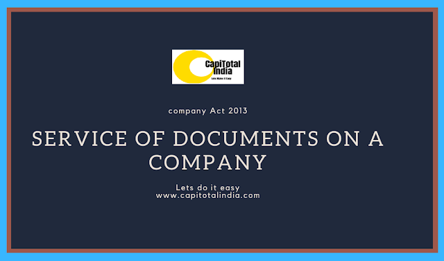 Service of Documents on a company