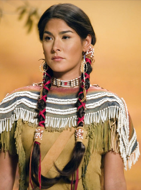 Sacajawea portrayed in night of the museum