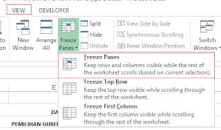 Cara Menggunakan Freeze Panes Excel