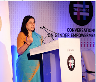 Maneka Gandhi at the inaugral session of The Bridge conclave