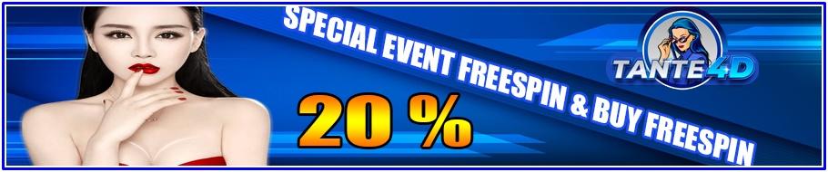 SPECIAL BONUS FREESPIN 20%