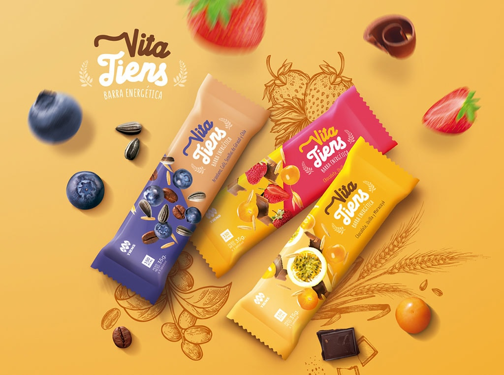 Inspirasi Desain Kemasan Packaging - Cereal bar Packaging Design – Vita Tiens