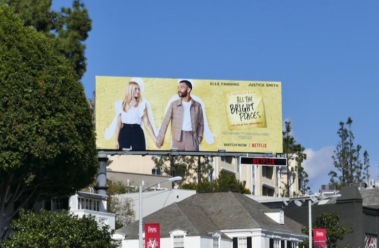 All The Bright Places film billboard