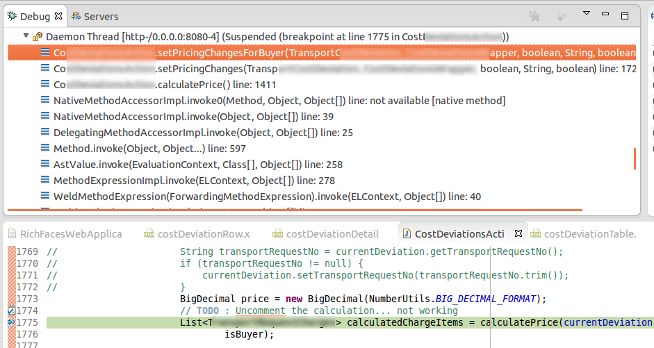SOLVED] eclipse jboss debug no step icon, resume not working | The