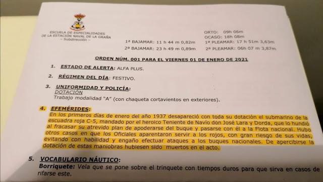 Orden efemérides Armada Española