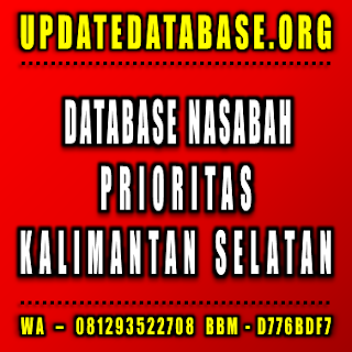Jual Database Nasabah Kalimantan Selatan