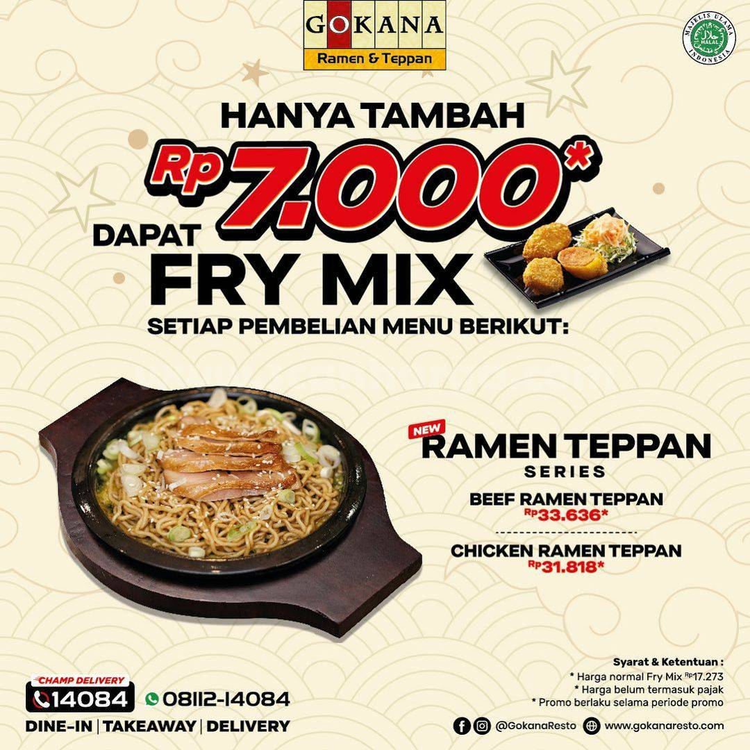 Promo Gokana Ramen & Teppan Terbaru 16 - 30 Juni 2021