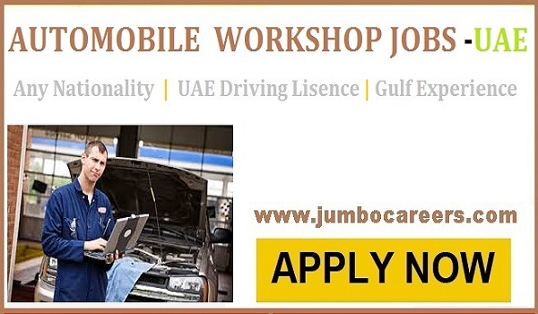 Latest Automobile Workshop Jobs in Sharjah