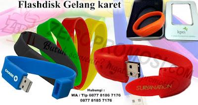 Flashdisk Unik Bentuk Gelang Tangan Cantik, WRISTBAND Bracelet Silicon, Gelang Silicone USB Flash Drive, Flashdisk gelang promosi