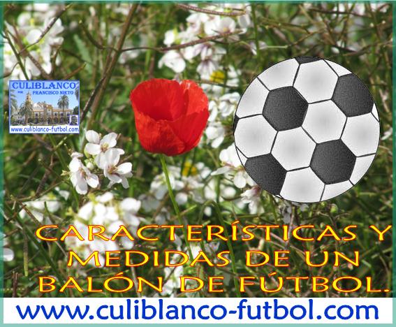 143d2fda9eeff CULIBLANCO por FRANCISCO NIETO  Las características y medidas de un BALÓN  de fútbol.