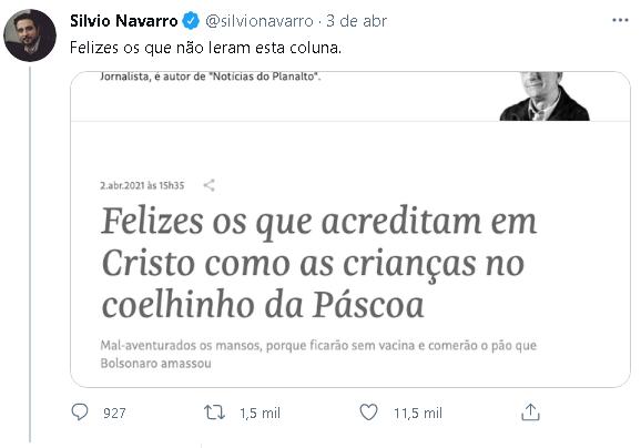 Em plena Páscoa, colunista da Folha faz ataques a cristãos  -  Adamantina Notìcias
