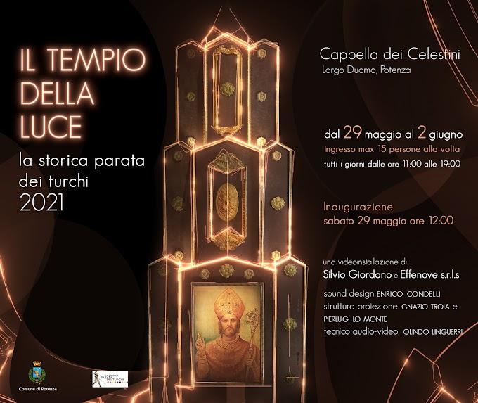 """A Potenza """"Il Tempio della Luce illumina la Parata dei Turchi"""""""