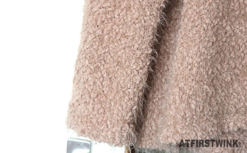 Costes pullover longsleeve wide fluffly pull camel rusty pink (close-up sleeve)