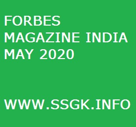 FORBES MAGAZINE INDIA MAY 2020