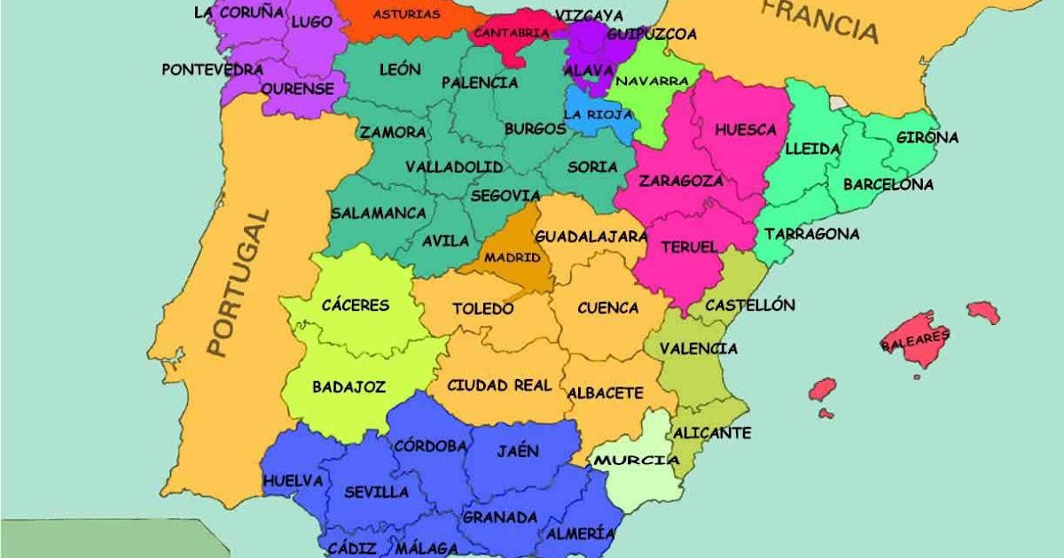 Mapa España Comunidades Autonomas Y Provincias.5ºb Garre Alpanez Mapa De Espana