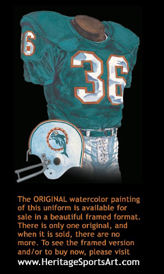 Miami Dolphins 1971 uniform