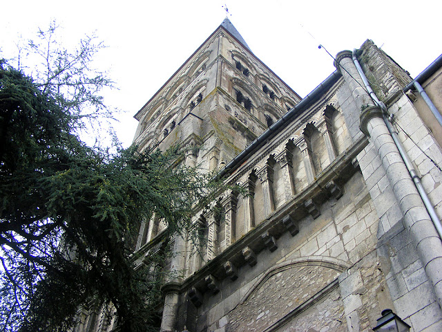 Belltower on the priory church, La Charite sur Loire, Nievre, France. Photo by Loire Valley Time Travel.