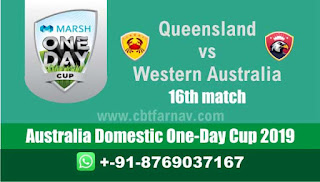 Marsh One Day Cup WAU vs QUN 16th Match Prediction Today Australia Dom ODI