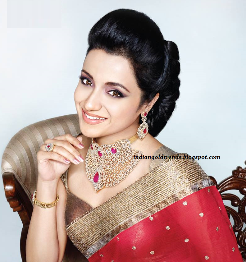 Trisha In Gorgeous Saree Photoshoot For NAC Jewellers Ad