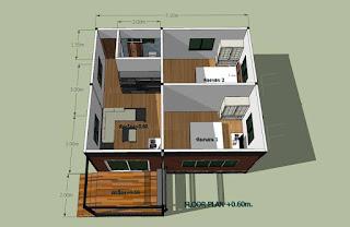 แบบบ้านชั้นเดียวยกพื้น สูง 1 เมตร