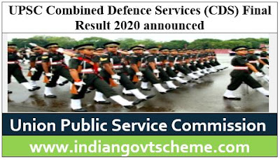 Combined Defence Services (CDS) Final Result