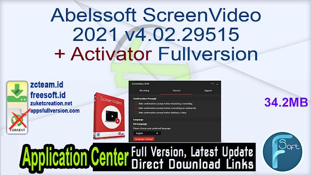 Abelssoft ScreenVideo 2021 v4.02.29515 + Activator Fullversion