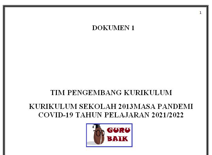 gambar Dokumen 1 Kurikulum 2013 SD Tahun 2021/2022