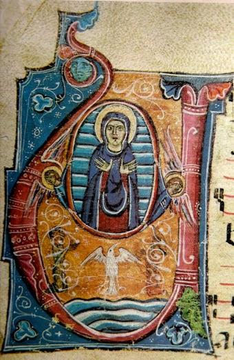 Miniatura del 1271 dell'Assunzione di Maria - Santa Maria dei Servi - Siena