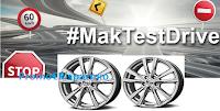 Logo #MakTestDrive: vinci gratis treni di cerchi in lega per auto e 30 guide sicure!