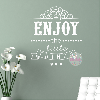vinilo decorativo frase Enjoy the Little Things