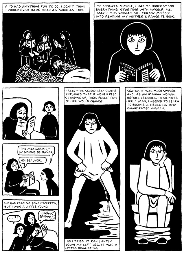 Read Chapter 3 - Pasta, page 21, from Marjane Satrapi's Persepolis 2 - The Story of a Return
