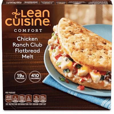 Copycat Lean Cuisine Chicken Ranch Club Flatbread Melt