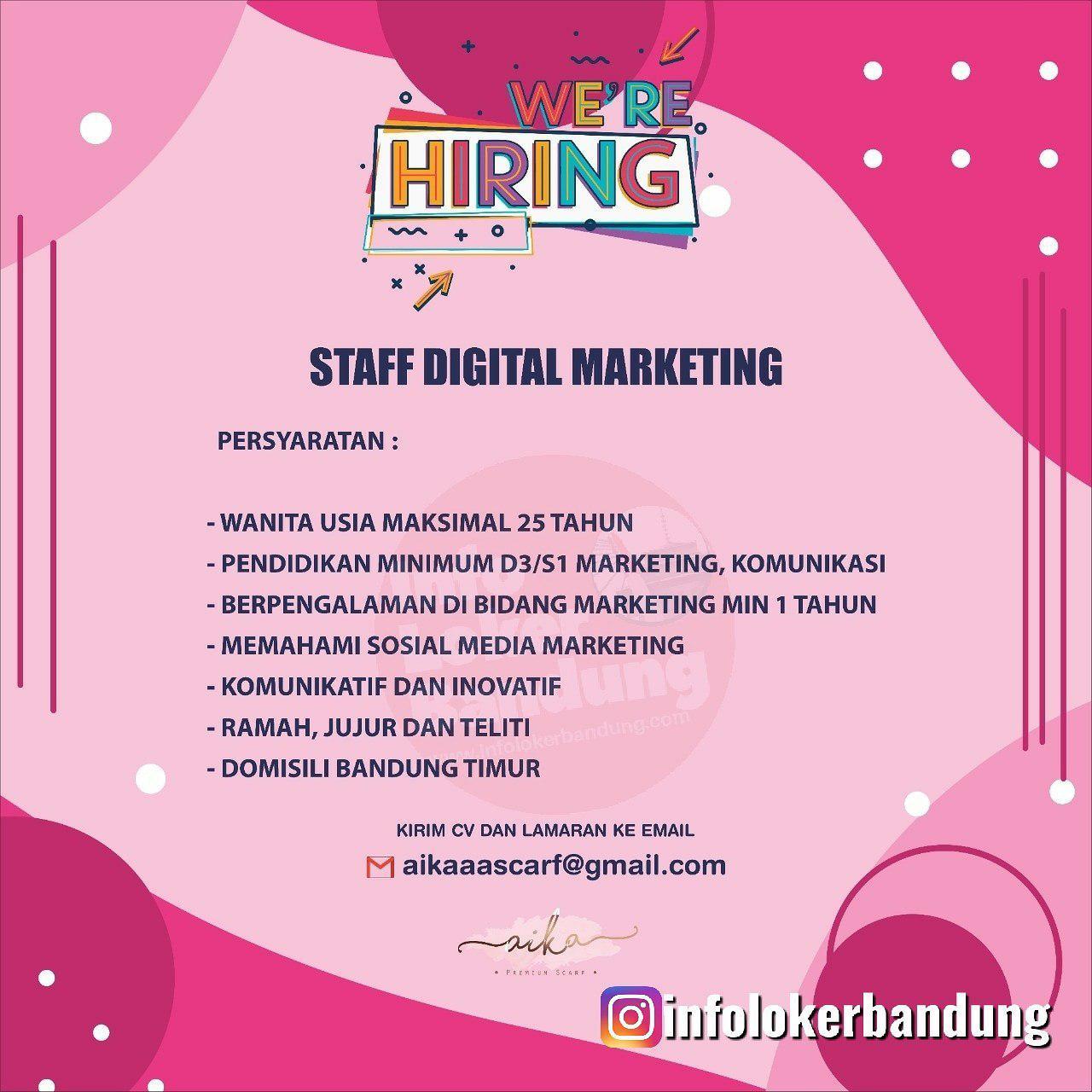 Lowongan Kerja Staff Digital Printing Aika Scarf Bandung Desember 2019