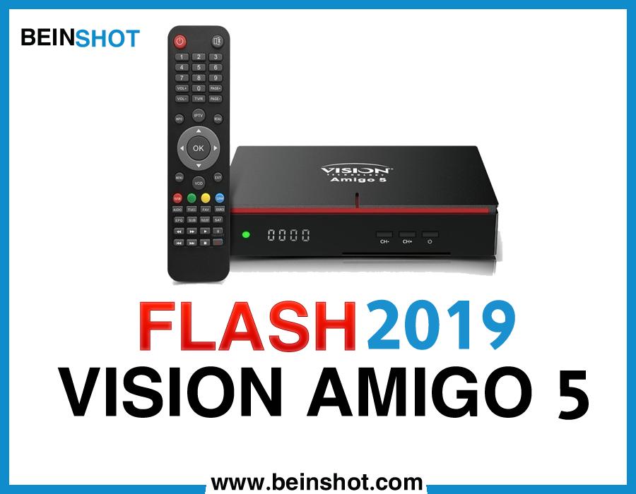 التحديث  الرسمي لجهاز  VISION AMIGO 5 HD 2019