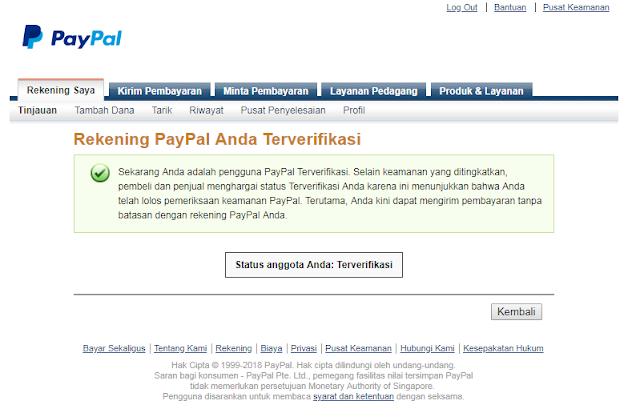 Cara Mengecek Status Verifikasi Paypal 5
