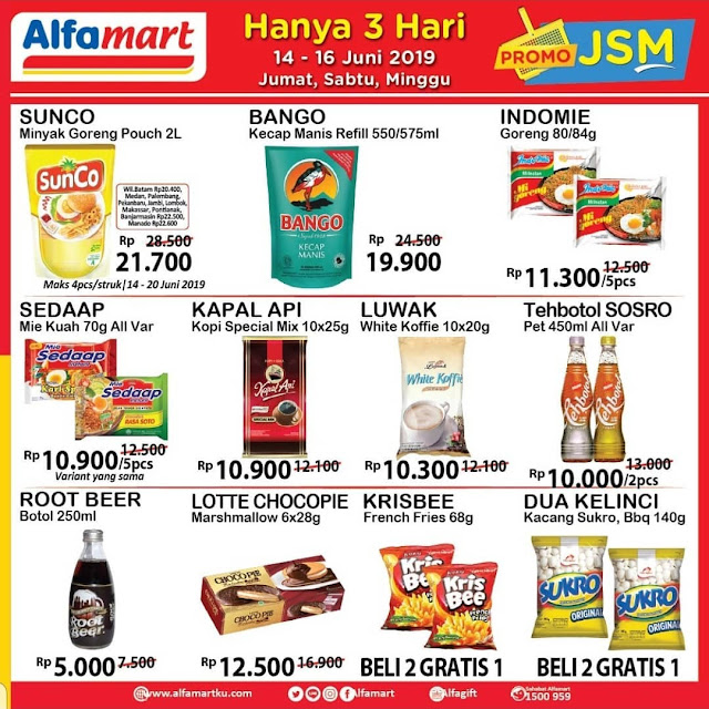 #Alfamart - #Promo #Katalog JSM Periode 14 - 16 Juni 2019