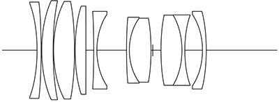 Оптическая схема объектива Voigtlander 65 mm f/2 Macro Apo-Lanthar