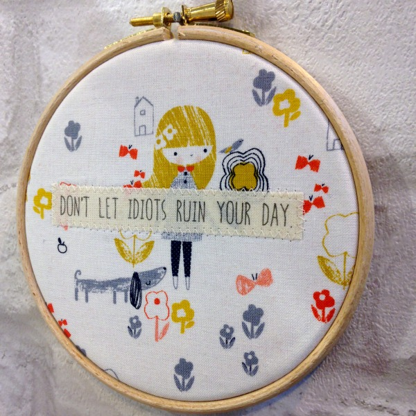 fabric hoop quote