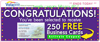 free Vistaprint coupons for february 2017
